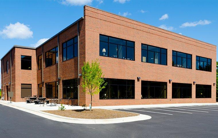 the exterior of an office building