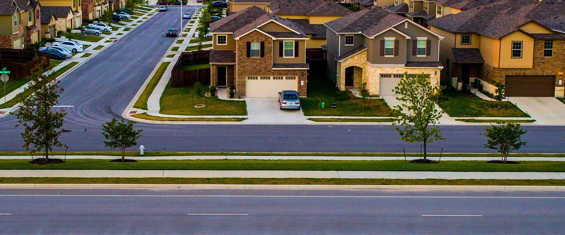 a residential neighborhood