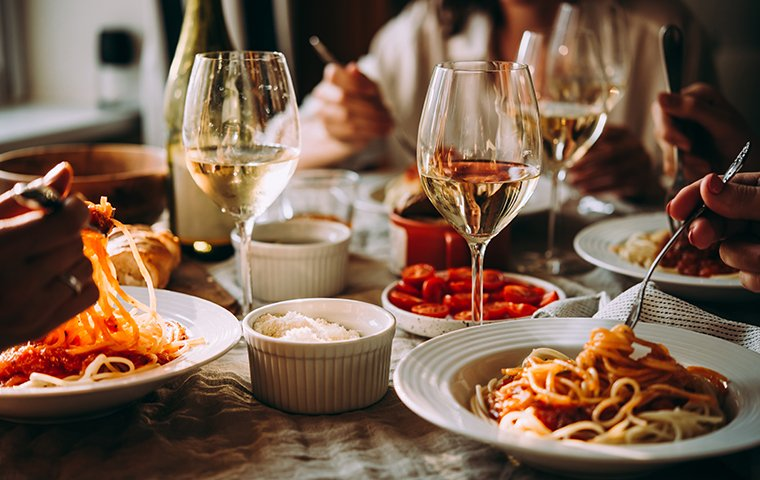 a restaurant table setting