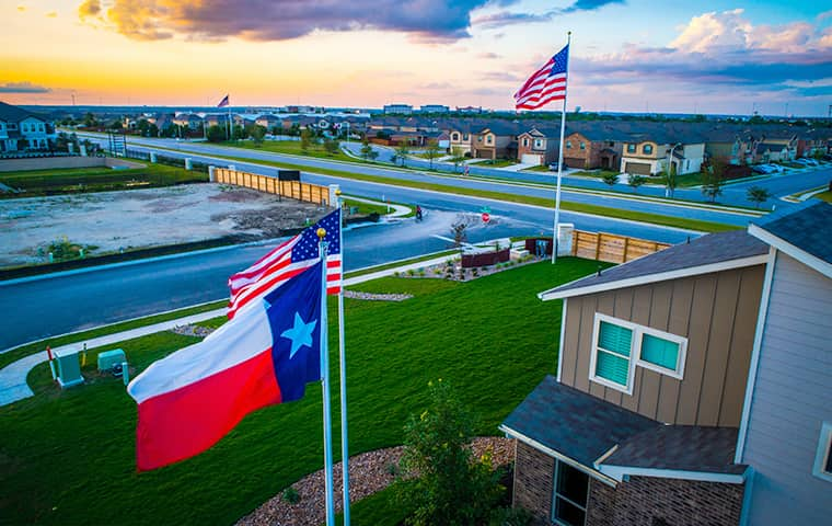 a residential neighborhood serviced by addison pest control of texas in little elm