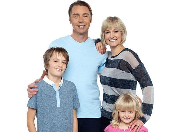 a happy family of four in dallas texas