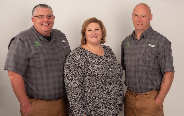 noble pest control employees at their office in hendersonville north carolina
