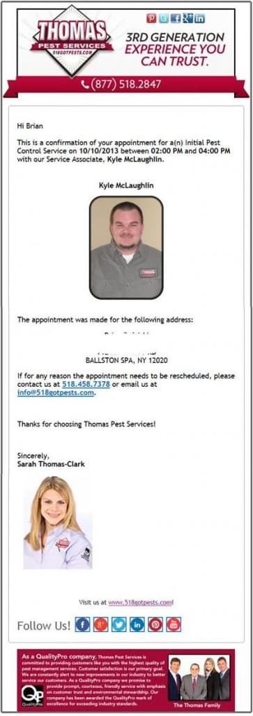 Thomas Pest Services, your local pest control company you can trust.