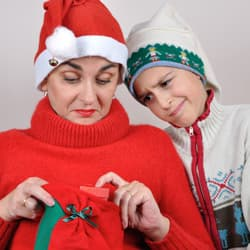 woman not happy with christmas gift