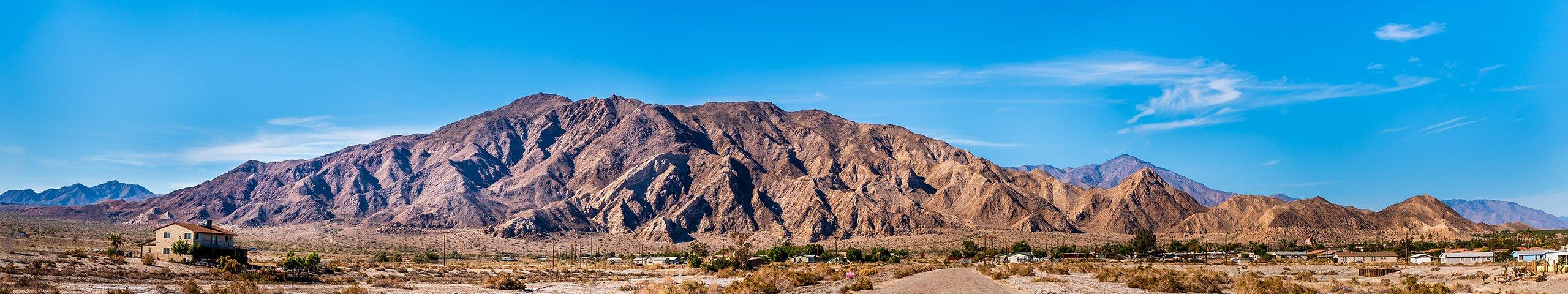 view of mountain in imperial valley california