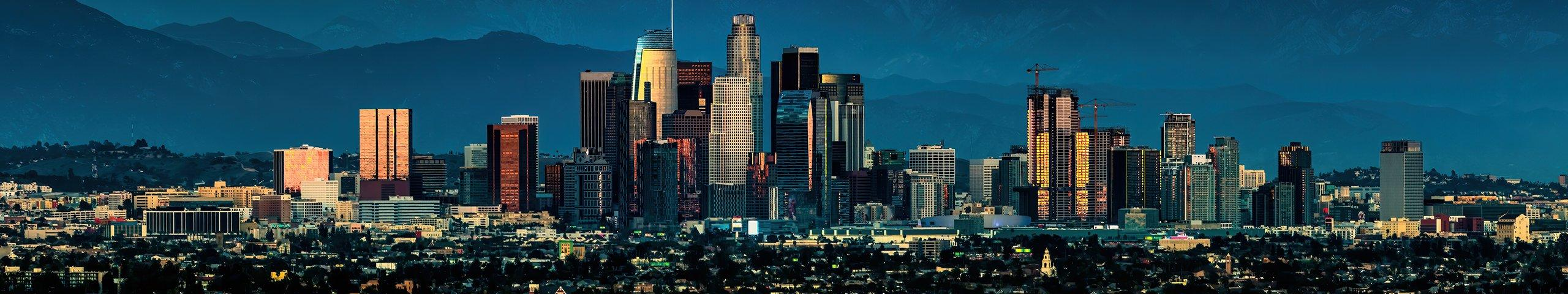 skyline of los angeles california