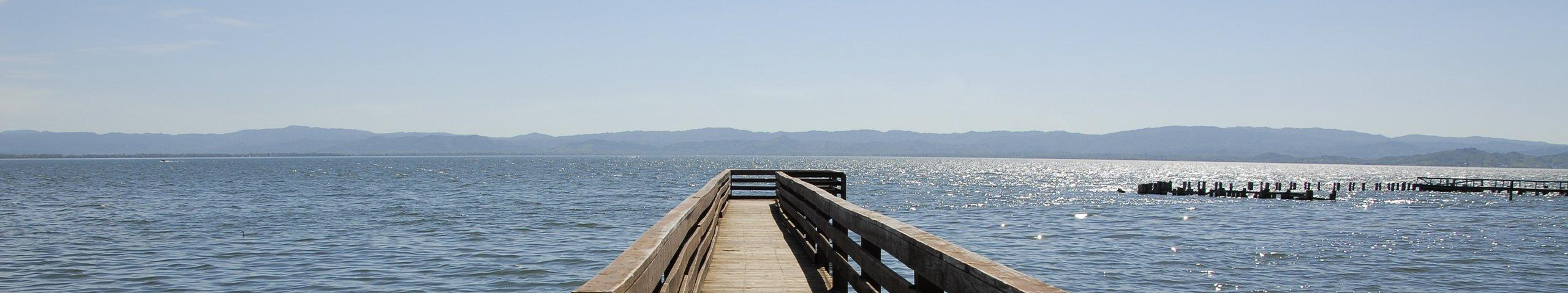 view from the pier on upper lake california
