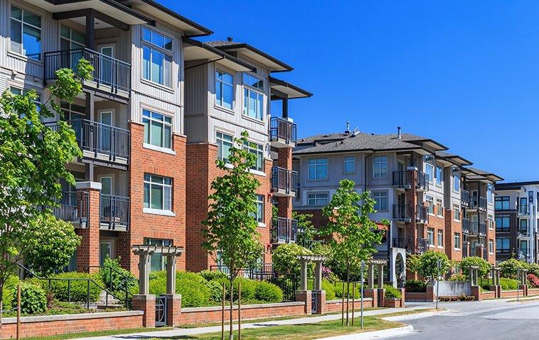 streetview of brick apartment buildings in chesapeake va