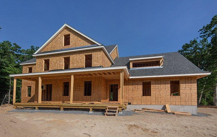a north carolina home in the process of being built
