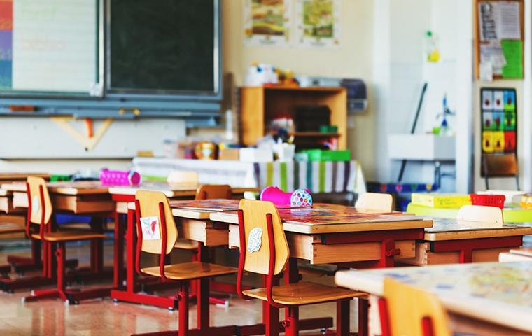 interior of an empty school classroom in chesapeake virginia