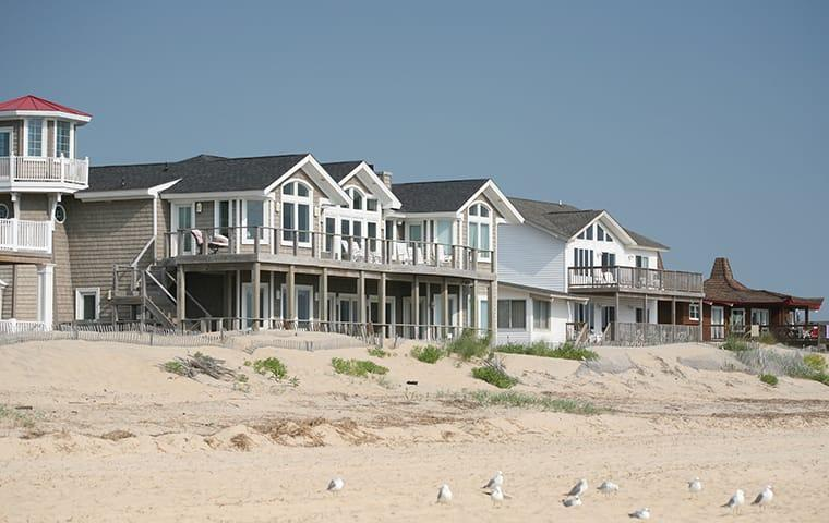 a row of beach houses along virginia beach virginia