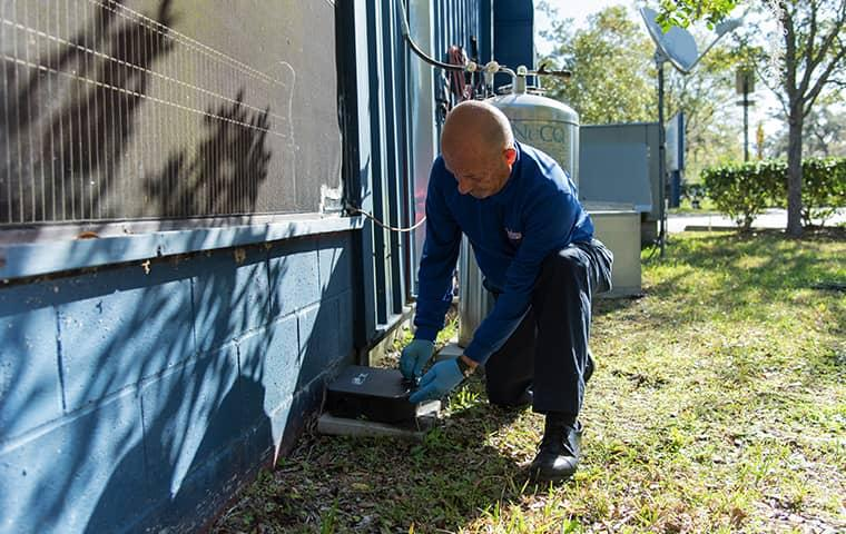 a technician servicing a commercial building in saint johns florida