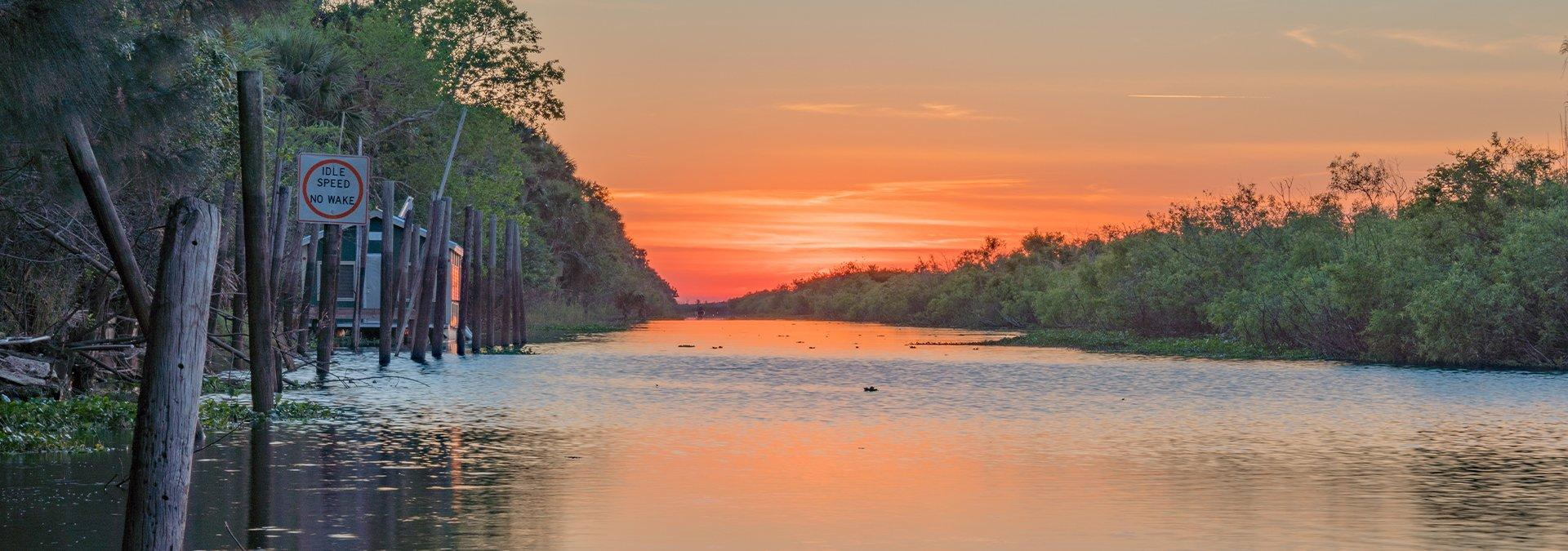 sunset view of the st johns river in orange park