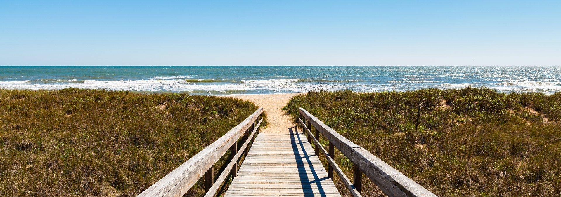 view of a boardwalk to ponte vedra beach in sawgrass florida