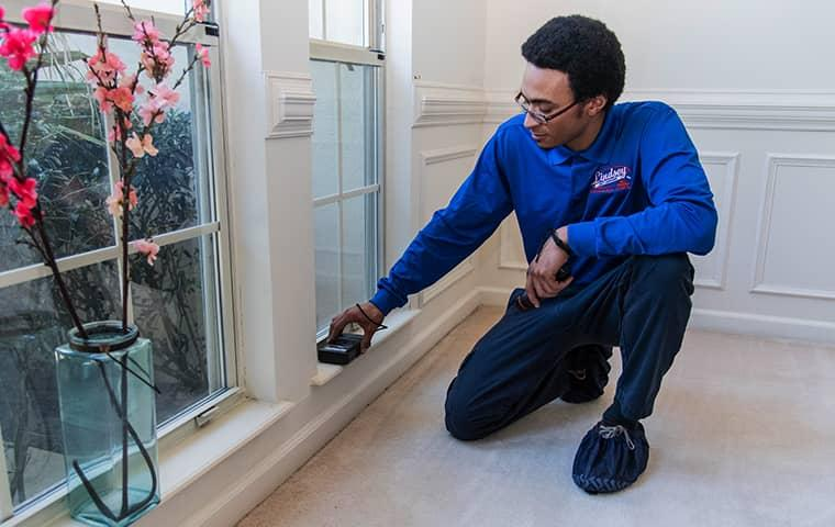 a technician servicing a saint johns florida home