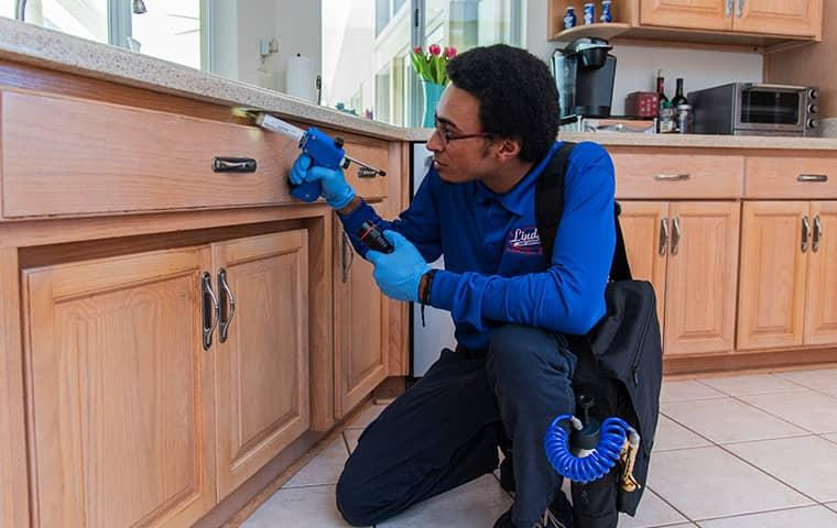 a technician servicing a fruit cove florida home