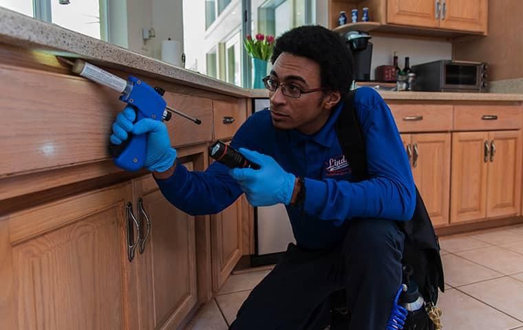 a technician servicing a lakeside florida home