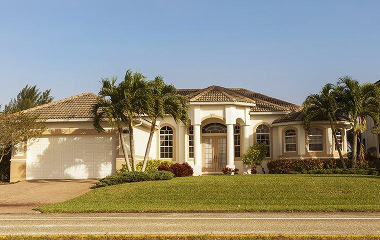 street view of a yard and sawgrass florida home
