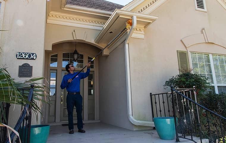 a technician servicing a san marco florida home