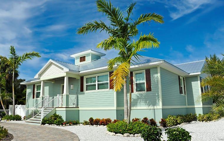 a street view of a beach house in st augustine beach florida