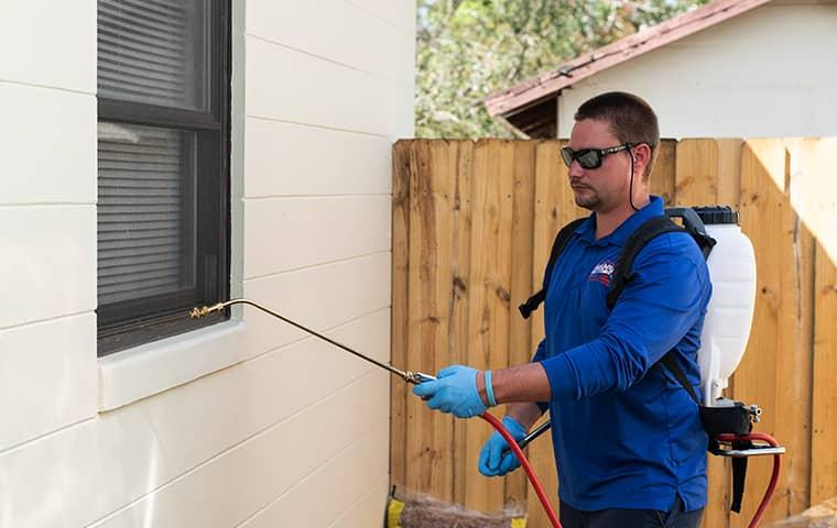 a technician servicing a saint augustine florida home