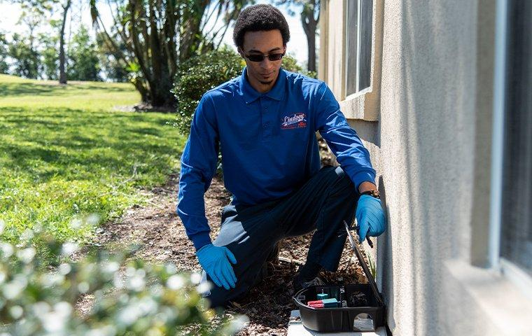 a technician working with rodent control equipment in vilano beach florida