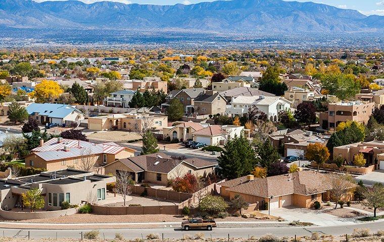 a suburban neighborhood in new mexico