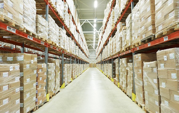 a very large warehouse