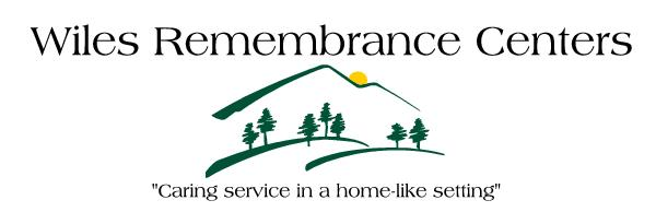Welcome Wiles Remembrance Centers! Owned and Operated by Kent Wiles and Rhonda Wiles-Rosell. Wiles Remembrance Centers is one of United Way's newest CCC members.