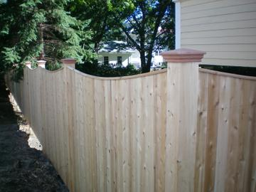 Photo #148, 6' Scalloped Board with Thin Cap Strip and Federal Post Caps