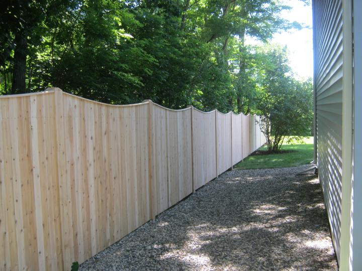 Photo #159, 6' Solid Scalloped Board with Thin Cap Strip and 5\