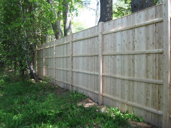 Photo #163, 8' Solid Board with Thin Cap Strip and Chamfered Posts