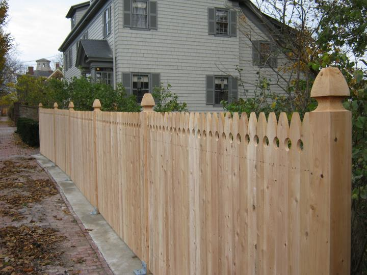 Photo #177, 4' Solid Gothic Picket with 5\