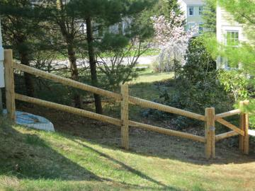 Photo #20, 2-Rail, Paddle End Rail with Welded Wire and Gate