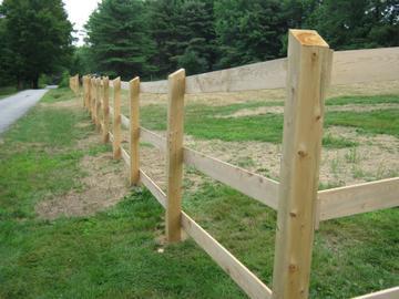 Photo #21, 3-Rail, Board Rails with Angled Top Posts