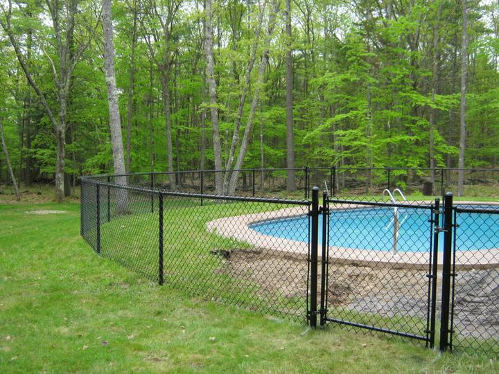 Photo #228, 4' Black Vinyl Pool Code Chain Link with Gate