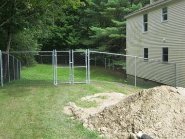 Photo #230, 6' Galvanized Steel Frame with Black Vinyl Fabric and Double Gate
