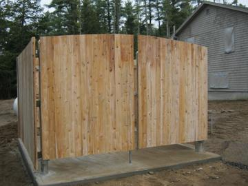 Photo #347, 6' Solid Board Dumpster Enclosure with Steel Frame