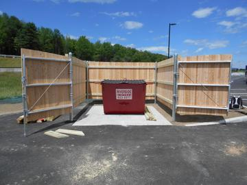 Photo #354, 6' Solid Board Dumpster Enclosure with Steel Frame