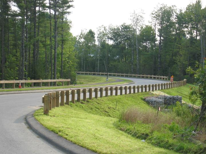Photo #355, Wood Guardrail with Chamfered Posts