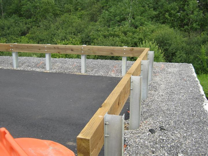 Photo #358, Wood Guardrail with Steel Posts