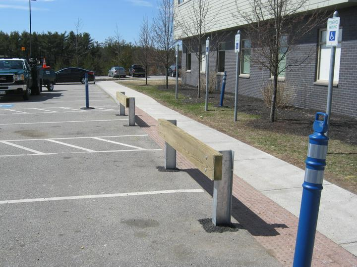 Photo #359, Wood Guardrail with Steel Posts
