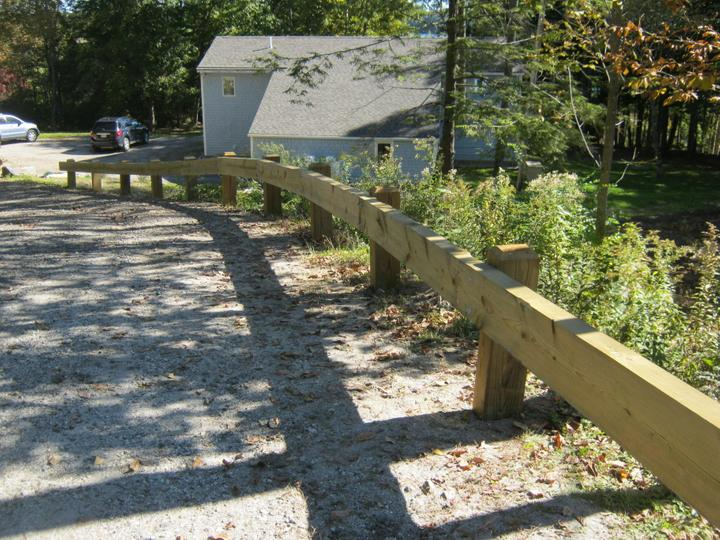 Photo #364, Wood Guardrail with Chamfered Posts