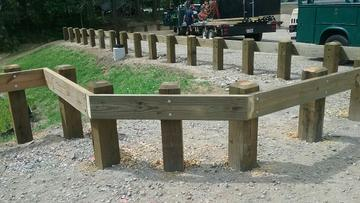 Photo #366, Wood Guardrail with Chamfered Posts