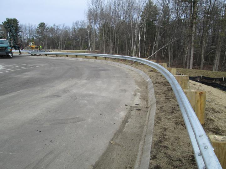 Photo #367, Steel Guardrail with Pressure Treated Wood Posts and Blocks