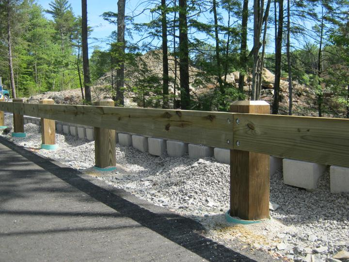 Photo #372, Wood Guardrail with Chamfered Posts