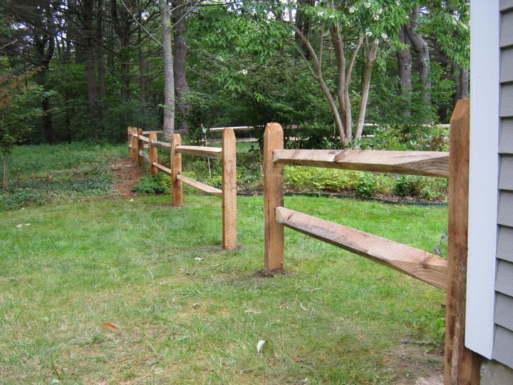 Photo #4, 2-Rail Hardwood Split Rail