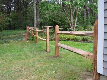 Photo #4, 2-Rail Hardwood Split Rail