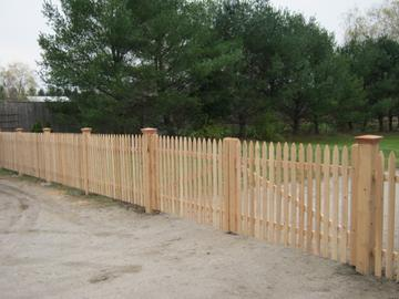 Photo #51, 4' Spaced Bishop Picket with Federal Post Caps and Double Gate
