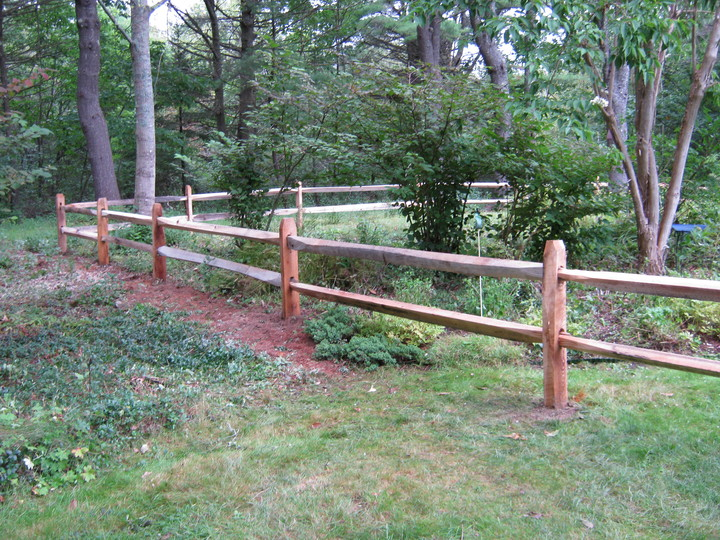 Photo #7, 2-Rail Hardwood Split Rail